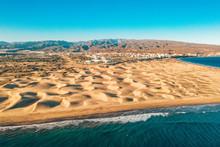 Aerial Maspalomas Dunes View O...