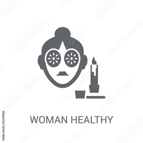 Obraz na plátně  Woman Healthy Treatment icon