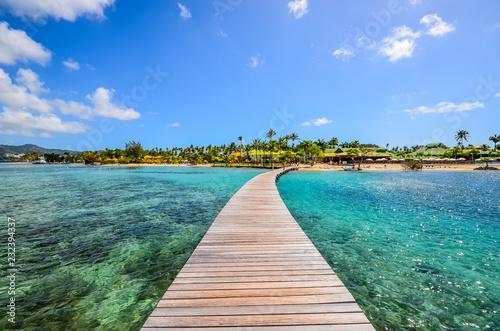 Photo  Caribbean Martinique pontoon on marin bay