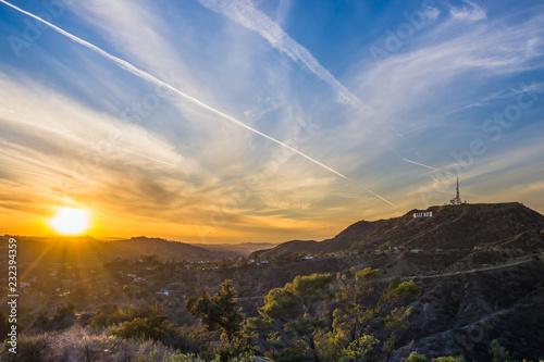 Fotomural Hollywood Hills sunset Los Angeles