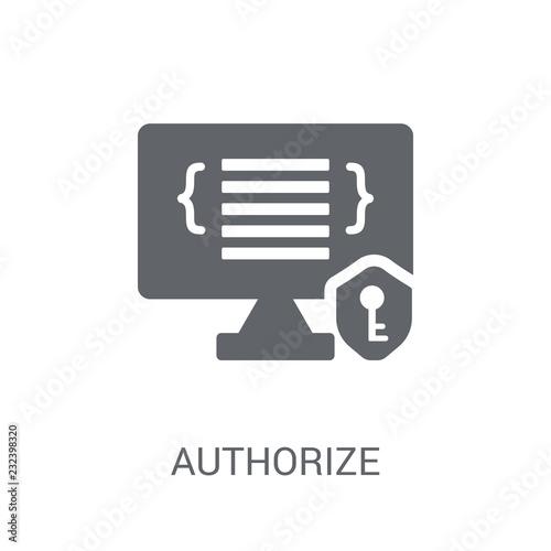 Fotografia, Obraz  Authorize icon