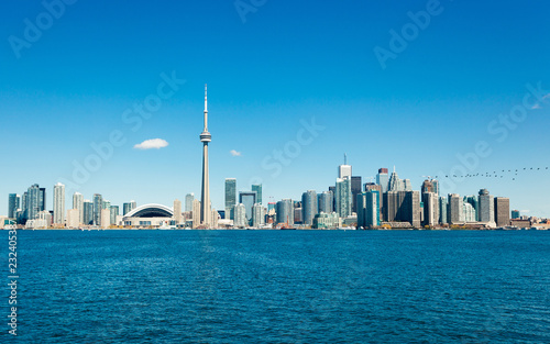 Staande foto Toronto Skyline of Toronto with CN tower Ontario Canada