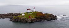 Cape Neddick Lighthouse Nubble Island Rock In York Maine
