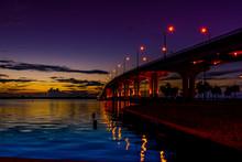 Predawn Under A Bridge On The Indian River Lagoon