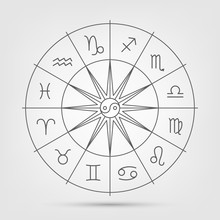 A Wheel With Twelve Signs Of T...