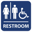 Restroom vector sign