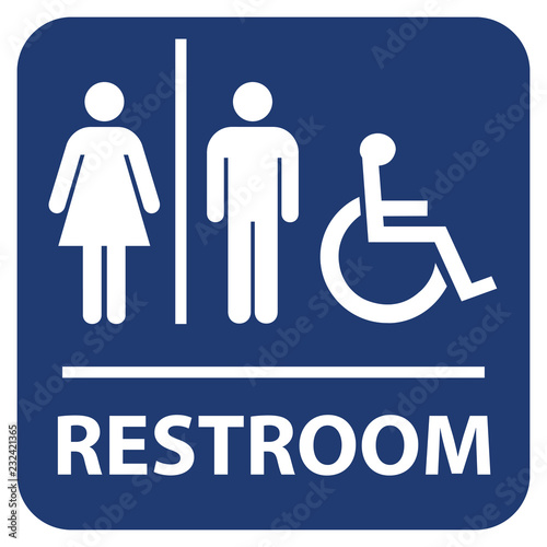 Fotomural  Restroom vector sign