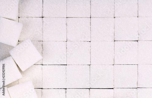 Fotografia  White sugar cubes