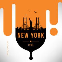 New York City Modern Skyline Vector Template