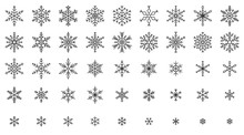 Snowflake Simple Black Line Ic...