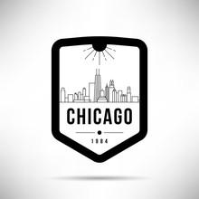 Chicago City Modern Skyline Ve...