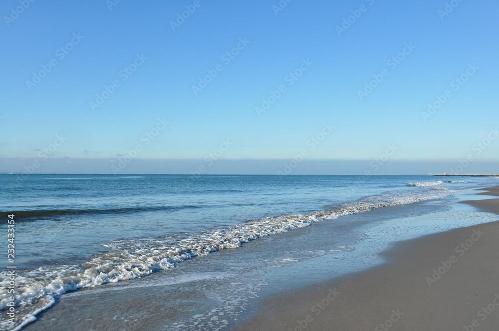 Photo Art Print Atlantic Ocean In Brighton Beach Brooklyn New