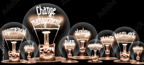 Fotomural Light Bulbs Concept