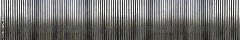 Fototapety, obrazy: white corrugated metal texture surface or galvanize steel background