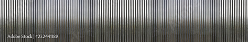 Poster Metal white corrugated metal texture surface or galvanize steel background