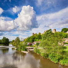 Ludlow Castle And The River Te...