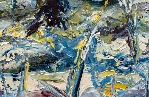 Abstract Winter Art On Canvas