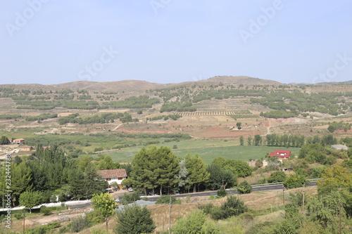 Foto op Aluminium Blauwe hemel Paisaje rural