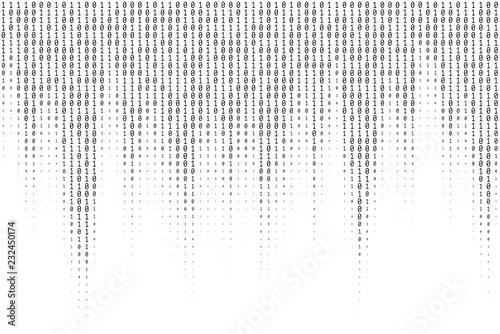 Carta da parati Binary Code Vector Texture