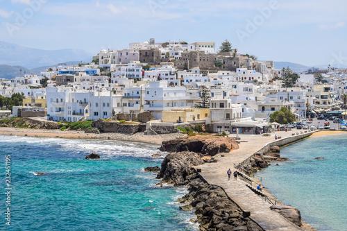 фотография Aerial view of Chora Old Town on Naxos, Greece
