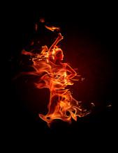 Fiery Flamenco Dancer. Fire Fl...