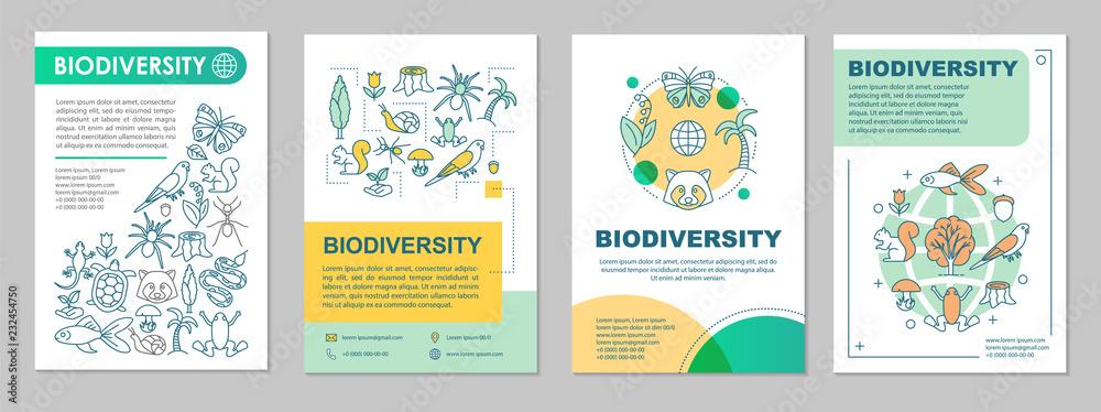 Fototapeta Biodiversity brochure template layout