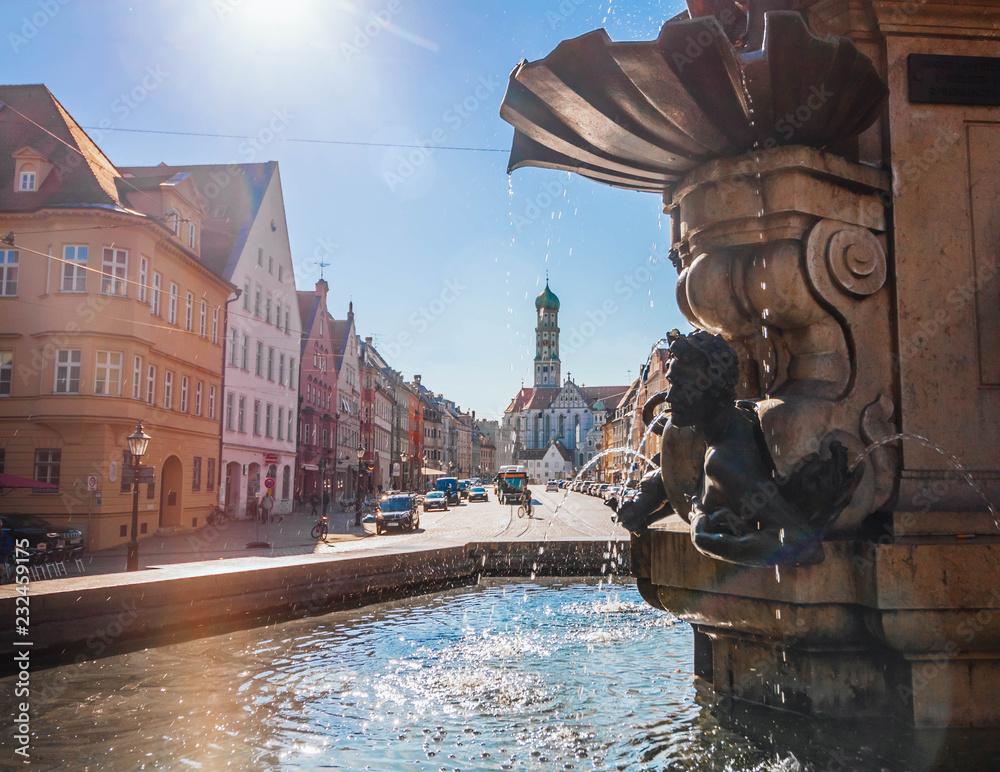 Fototapety, obrazy: Augsburg in its full swing