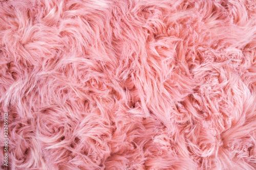 Pink sheepskin background Billede på lærred