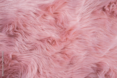 Fotografía Pink sheepskin background