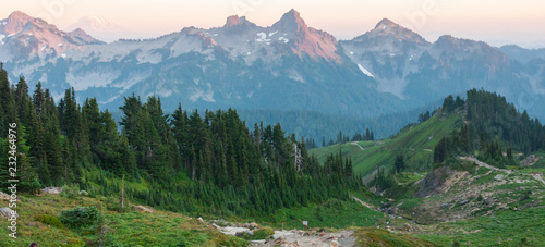 Fototapety, obrazy: Rocky area and hills