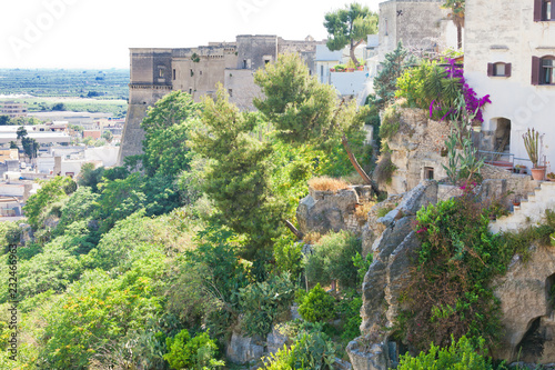 Fotografie, Obraz  Massafra, Apulia - Middle aged stairways leading down the hills of Massafra