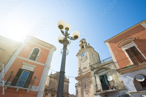 Fotografie, Obraz  Massafra, Apulia - The sun illuminating the historic church of Massafra