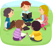 Stickman Kids Bible Study Outdoor Illustration