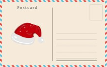 Merry Christmas Holiday Postcard Background Greeting Card. Vector Illustration