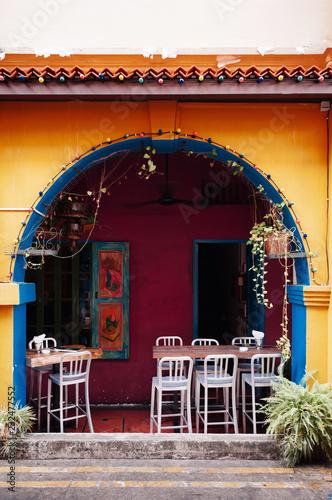 Photo  Colourful colonial building at Haji Lane, Kampong Glam - Singapore