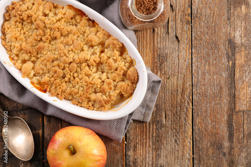 Photo  pear and apple crumble