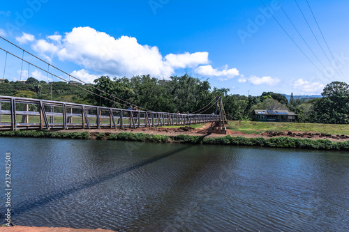 Hanapepe Swinging Bridge In Kauai Hawaii Buy This Stock