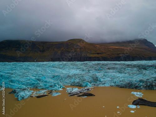 Glacier, melting ice