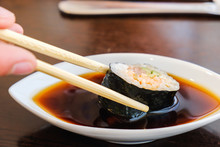 Bowl With Tasty Soy Sauce And ...