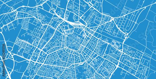 Obraz na plátně Urban vector city map of Modena, Italy