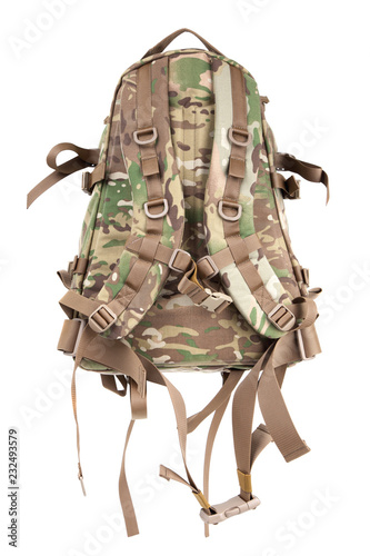 Fototapeta  tactical backpack isolate on white