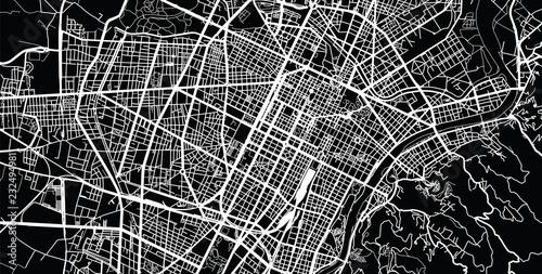 Photo  Urban vector city map of Turin, Italy