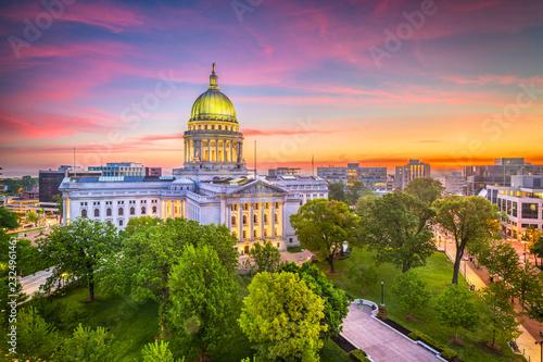 Obraz na plátne  Madison, Wisconsin, USA State Capitol Building