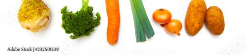 Foto op Aluminium Verse groenten Suppengemüse