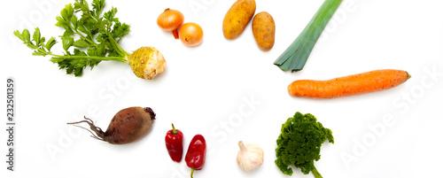 Foto op Canvas Verse groenten Suppengemüse