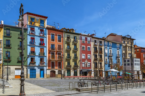 Square of the Company, Pamplona, Spain Canvas