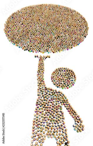 Valokuva Cartoon Crowd Figure, Orb