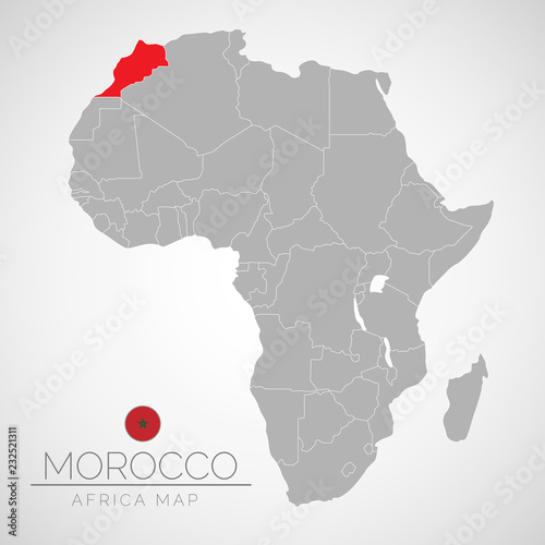 Morocco Map Of Africa.Map Of Africa With The Identication Of Morocco Map Of