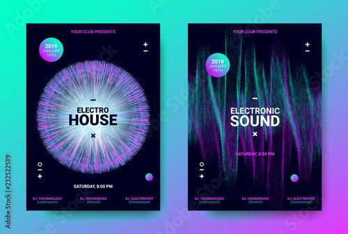 Electronic Trance Music Promotion Design  - Buy this stock vector