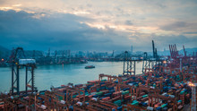 International Transportation Business Commodity Vessel Sea Ports In Hong Kong On October 14, 2018